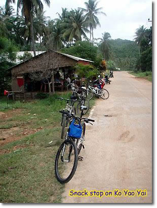 Moutain biking on Koh Yao Yai.