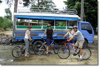 Support bus for our mountain biking tours.