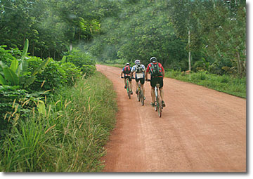 Mountain biking in Phang Nga Province.
